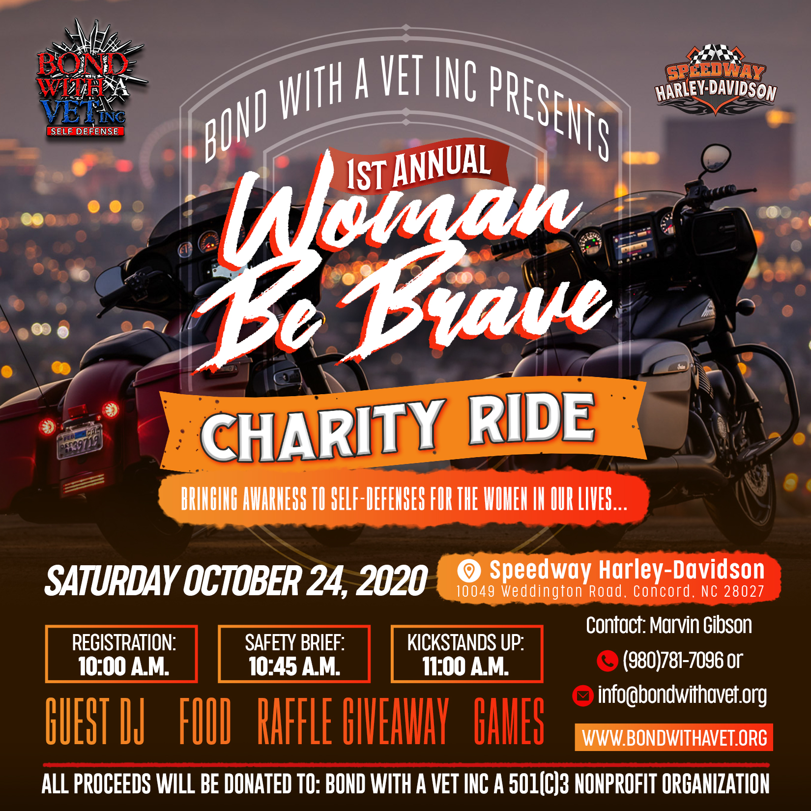 Woman Be Brave Charity Ride